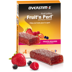 OVERSTIM.s Fruit'N Perf Antioxydant Patukkapakkaus 4x25g, Red Berries
